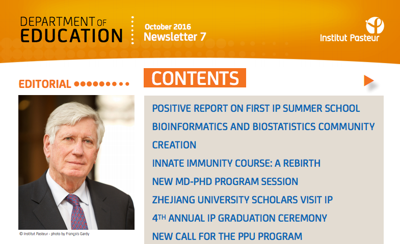 Newsletter education institut-pasteur