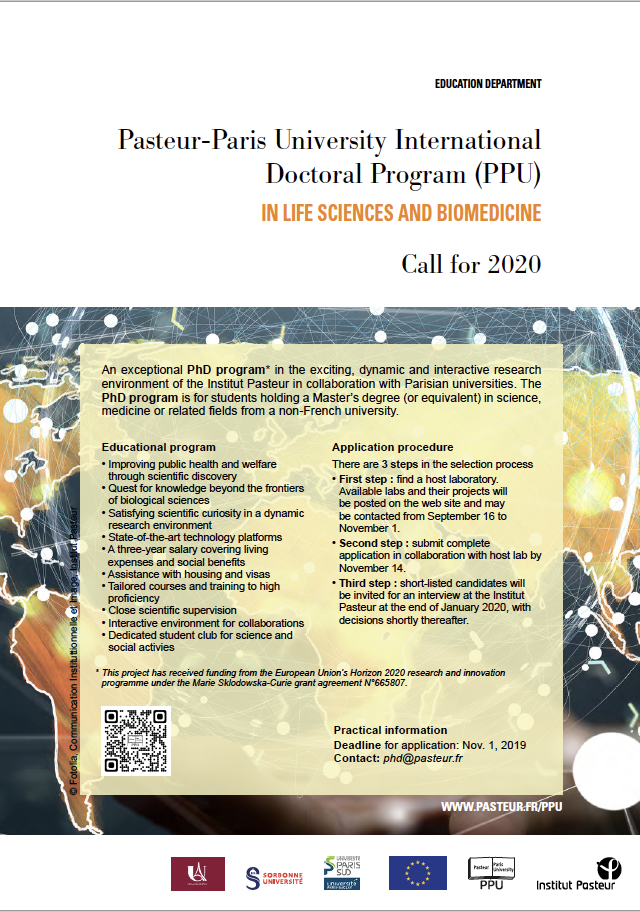 Pasteur-Paris University International doctoral program (PPU