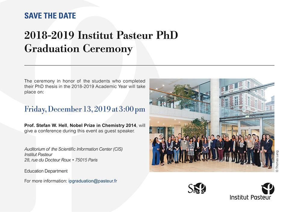 Ceremony for newly graduated students - Institut Pasteur