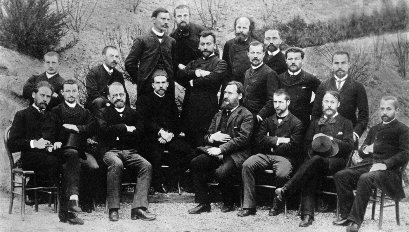 Elèves du 1er cours de microbie technique en 1889 - Institut Pasteur