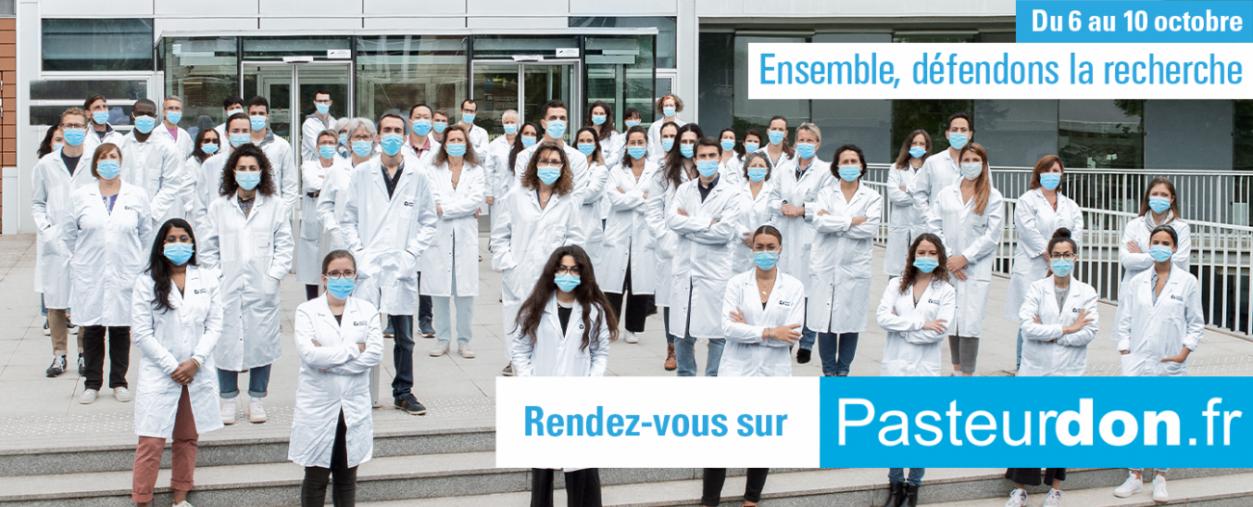 Ensemble, défendons la recherche - Pasteurdon 2021 - Institut Pasteur