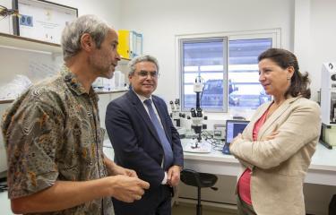 Visite de Agnès Buzyn au vectopole de l'Institut Pasteur de la Guyane