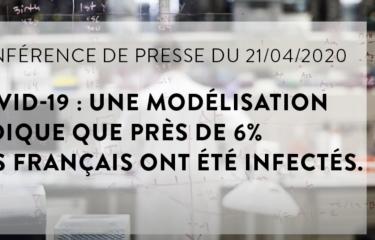 COVID-19 : une modélisation indique que près de 6% des Français ont été infectés - Institut Pasteur