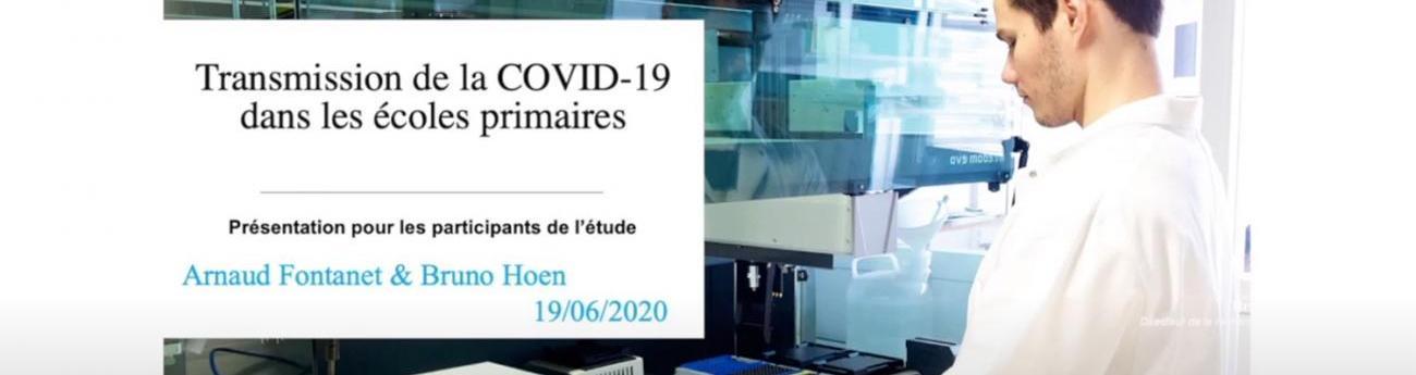 Transmission de la COVID-19 dans les écoles primaires - Institut Pasteur
